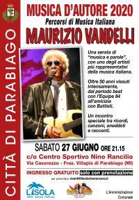 Maurizio Vandelli a Musica d\'Autore Parabiago
