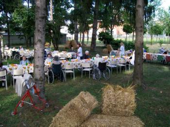 Cena estiva nel parco