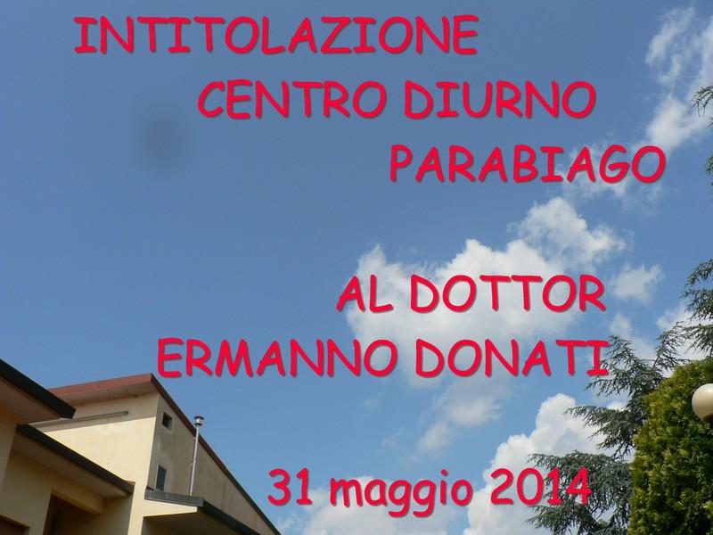 Intitolazione del Centro Diurno anno 2014